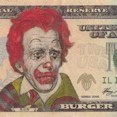 Рисунки на деньгах James Charles
