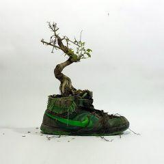 """""""Живые"""" кроссовки с цветами"""