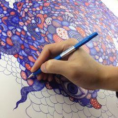 Рисунки обычной шариковой ручкой