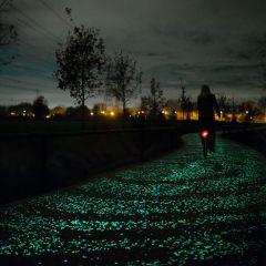 Красивая велодорожка в Нидерландах