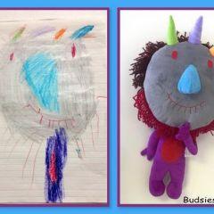 Детские рисунки превращаются в плюшевые игрушки