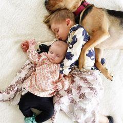 Собачка и двое детей — идеальная семья