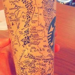 Карта Средиземья на стакане Starbucks