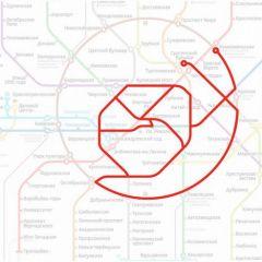Силуэты животных на карте метро Москвы