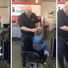 Одинокий отец научился делать красивые прически своей дочери