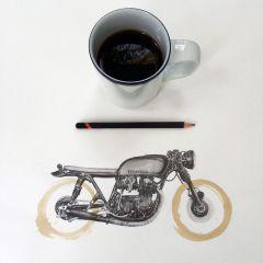 Кофейные рисунки Carter Asmann