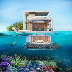 Роскошная яхта с подводными комнатами