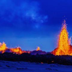 Извержение вулкана Бардарбунга в Исландии