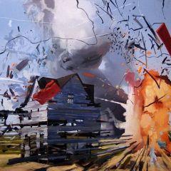 Взрывные картины Ben Grasso
