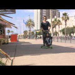 Лонгборд в качестве транспорта для коляски: Longboardstroller
