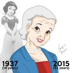 Постаревшие принцессы Disney в рисунках Isaque Ar?as