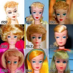 Эволюция Барби: как выглядела популярная кукла в 1959 и какое у нее лицо сейчас