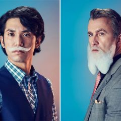 Мужчины с мыльной растительностью на лице: проект Mindo Cikanavicius