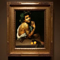 Татуированные герои картин Nicolas Amiard