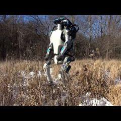 Робот по имени Атлас, который может гулять, открывать двери и подниматься