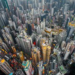 Редкие фото Гонконга с большой высоты