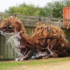 Скульптуры животных из мусора Bordalo II