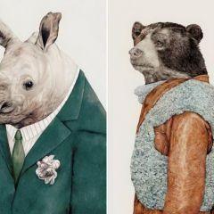 Стильные принты с животными Animal Crew