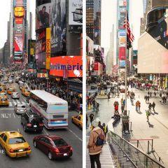 Таймс-Сквер в Нью-Йорке стала пешеходной зоной