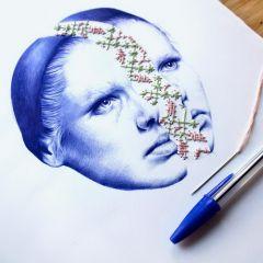 Рисунки шариковой ручкой Nuria Riaza