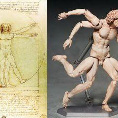 Фигурка витрувианского человека: работа Figma