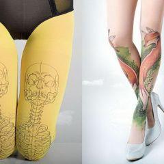 Тату-колготки: украсить ноги без необходимости делать наколки