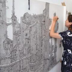 Огромные рисунки Olivia Kemp