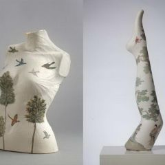 Скульптуры из рисовой бумаги Peng Wei