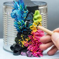 Творческие кораллы на старых предметах Stephanie Kilgast