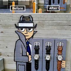 Остроумный стрит-арт Tom Bob