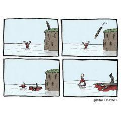 Комиксы с черным юмором: работы Remi Lascault