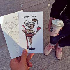 Кофе как персонаж: рисунки Marija Tiurina