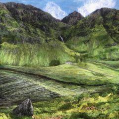 Вышитые пейзажи Шотландии Artisan Felt Studio